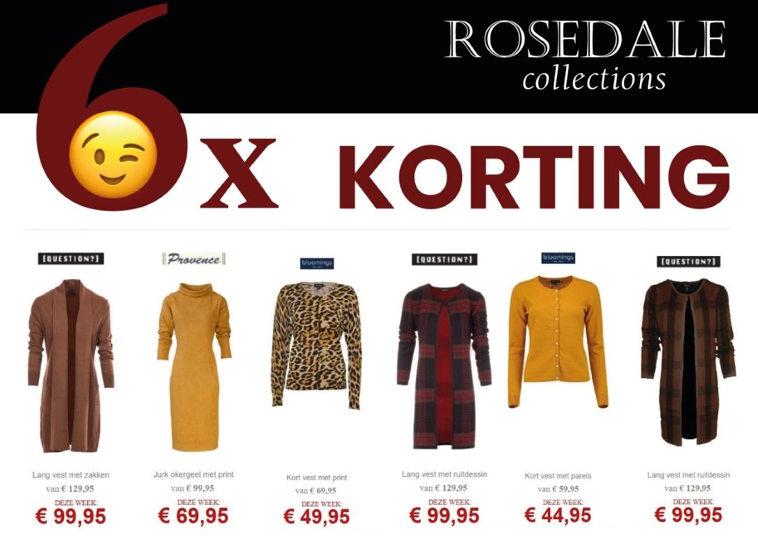 knipoog actieweek bij rosedale collections aanbiedingen dameskleding