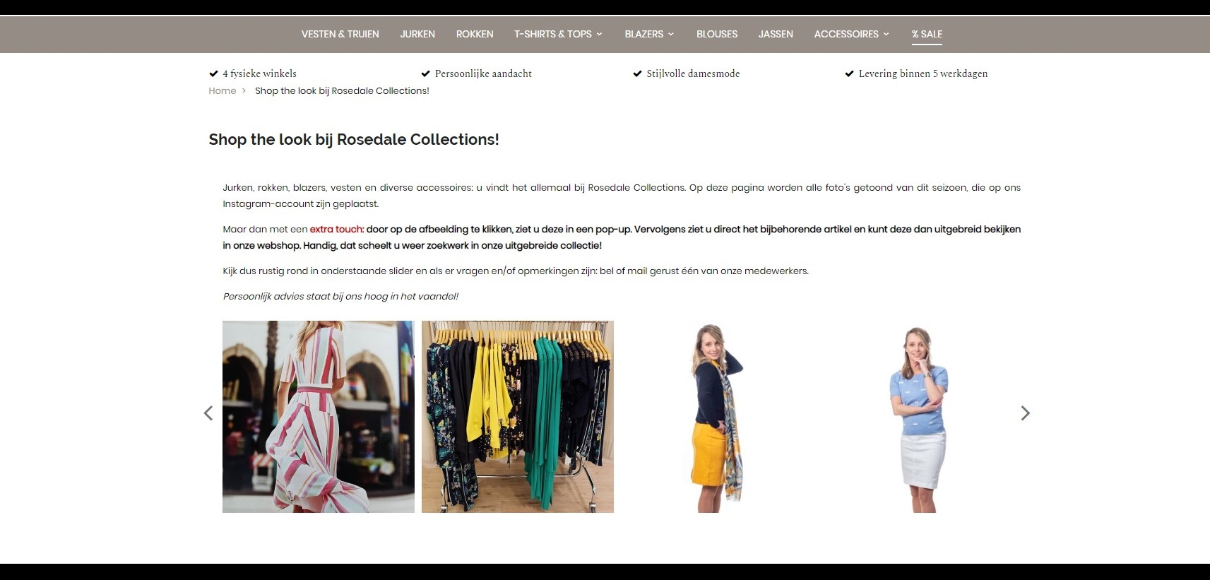 Pagina Shop-the-Look Rosedale Collections