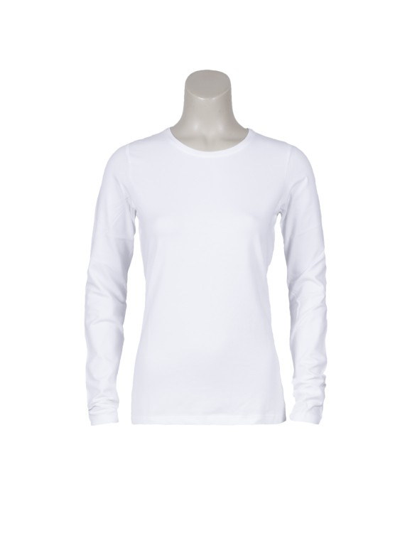 T-shirt basic lange mouw wit