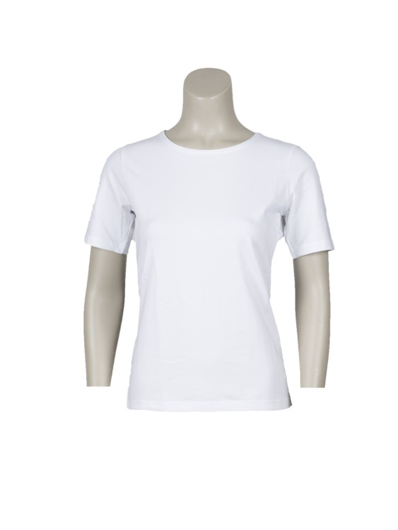 T-shirt basic korte mouw wit