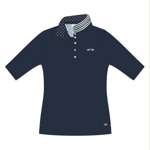 Polo shirt Nicky MS donkerblauw