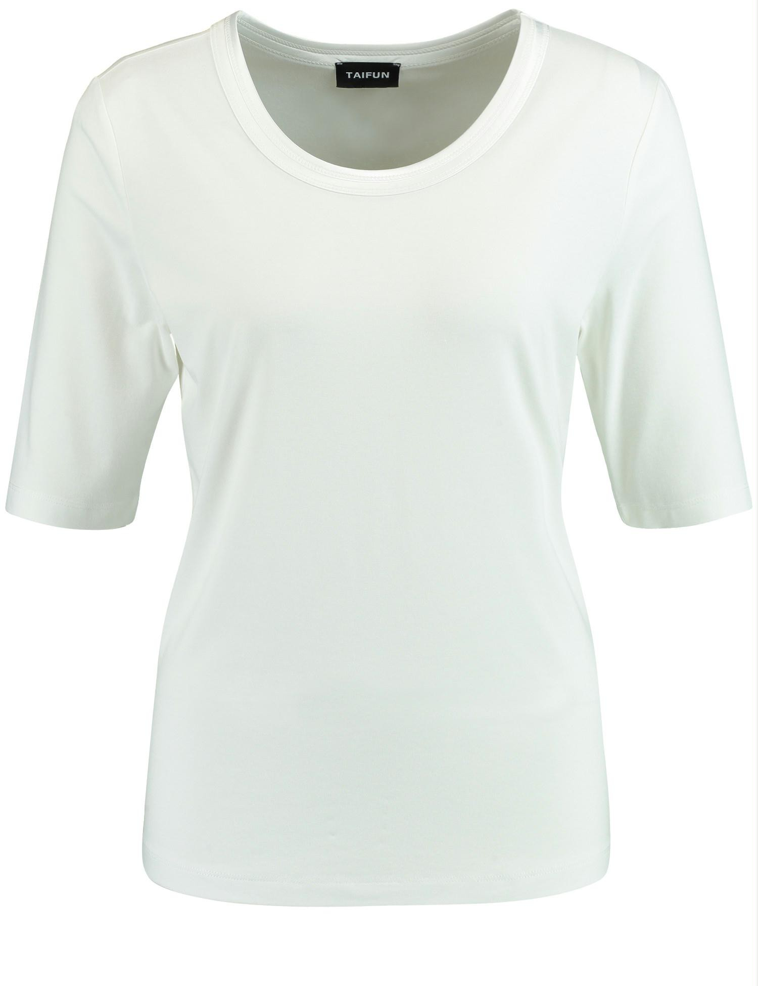 Shirt ronde hals off-white